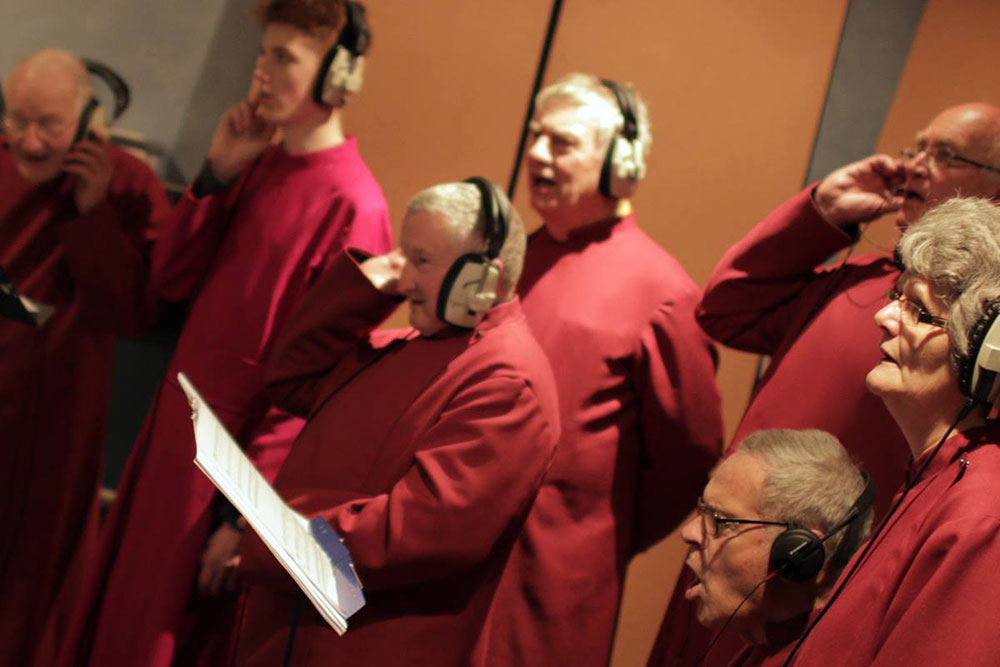 Community Choir recording The Lowly Candle Flame
