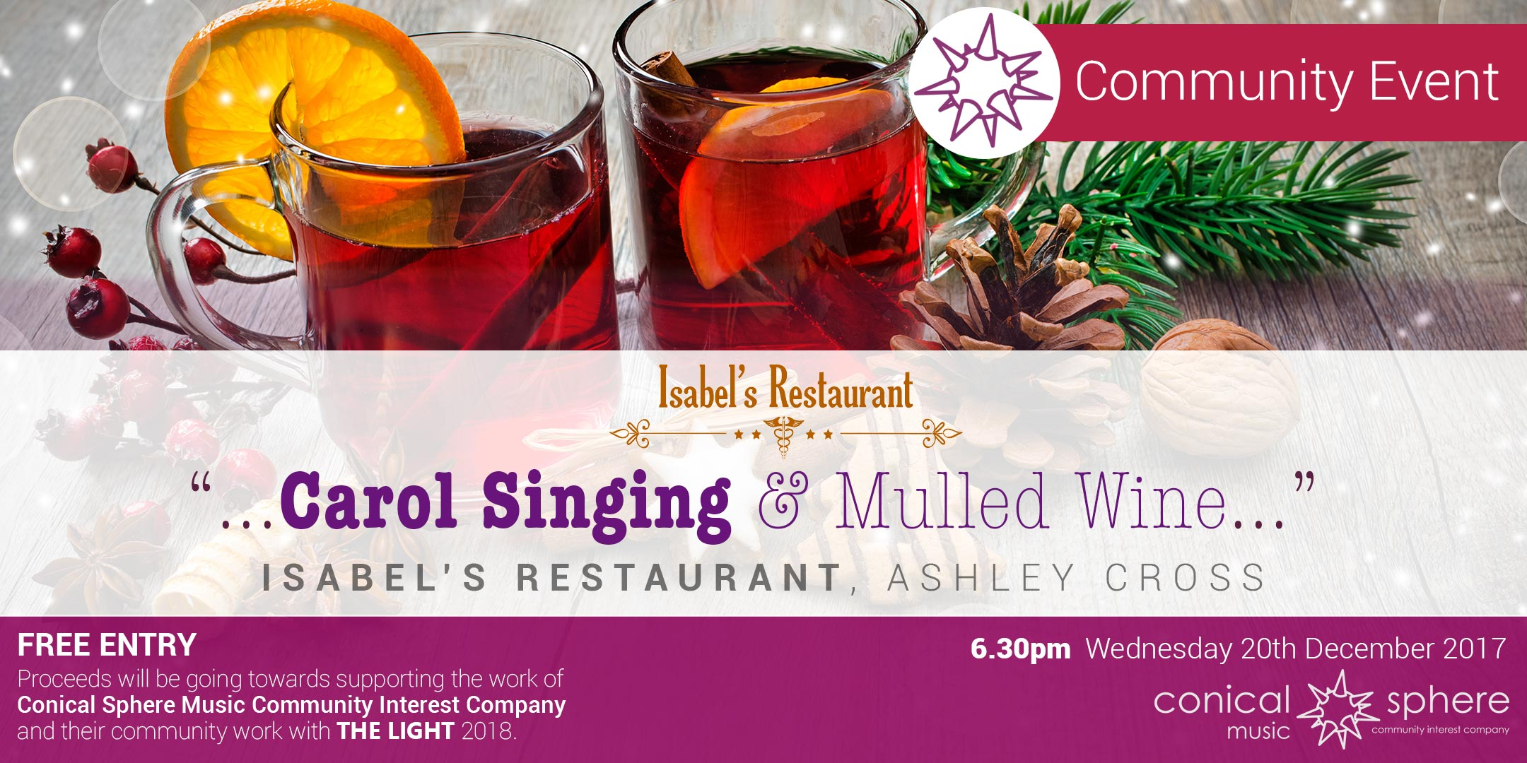 Christmas Carol Singing at Isabel's Restaurant, Ashley Cross