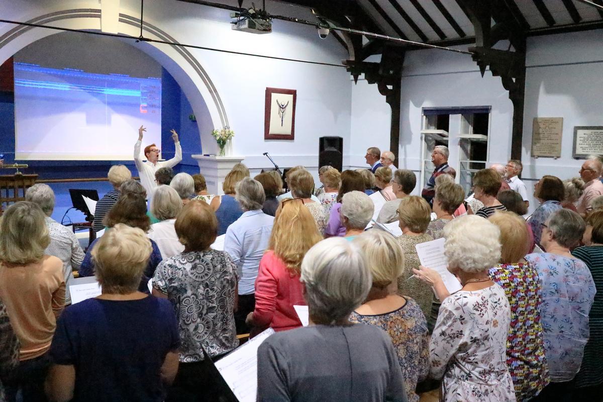 The Light Salisbury Choir Rehearsal